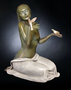 Sara et les oiseaux    (Deville-Chabrolle 2013) (c) Deville-Chabrolle Sculptures 2013 // http://www.deville-chabrolle.com