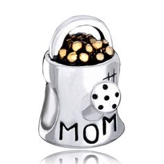 Sterling Silver Jewelry - mom charms 925 sterling silver beads watering flower pot beads charms Image.