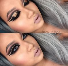 Cut Crease Creativity from our stunner @valpham Matte shades from the 35N create a smokey effect #MorpheBabe