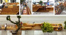 Sunset Parklet, Interstice Architects, 2014. ©Cesar Rubio