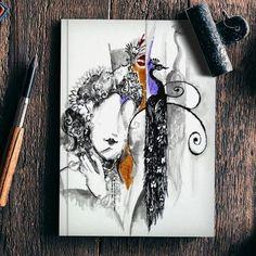 krishna modern art Notebook | Artist : Rupam Shah