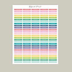 EDITABLE Printable Planner Stickers Erin Condren by RafinadPrint