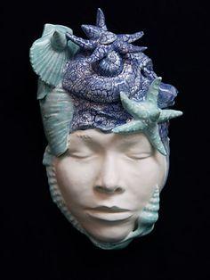 "Martie Geiger-Ho ""Myself As Great Sea Mother"" - Cone 04 slip cast whiteware & glaze"