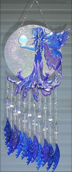Fused Glass Suncatchers   ... Mistress - by Jacqueline K M Pfeffer from Fused Glass Mobile-Chime
