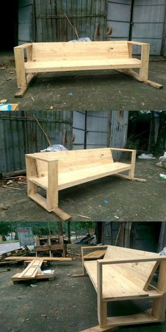 Awesome Pallet Wood Bench Ideas