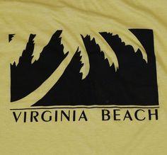 Vintage 1980s Virginia Beach Palm Tree T Shirt 10 00 Shirts Tee