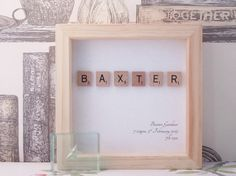 Personalised Scrabble art to welcome a new one to the world, a truly unique new born or christening gift to mark a very special occasion. Each picture