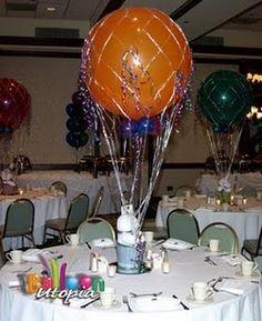 7 pc Sky/'s the Limit Hot Air Balloon Grad Bouquet Party Decoration Graduation