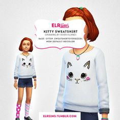 ELR Sims: Kitty Sweatshirt • Sims 4 Downloads [X] Downloaded