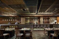 Japanese Restaurant design based on the contemporary old Shanghai style: Yakiniku Master by Golucci International Design - Grill Restaurant, Restaurant Concept, Restaurant Photos, Restaurant Ideas, Visual Merchandising, Japanese Bar, Japanese Design, Japanese Style, Chinese Style