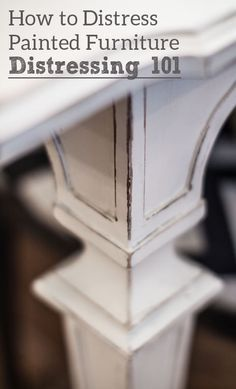 1000 ideas about Distressing Painted Furniture on