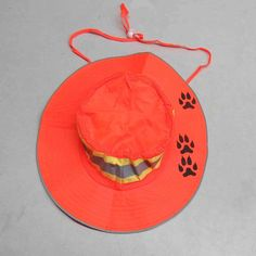 dog track  neon booney hat with reflective band by HeartFlag