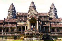 Visit Angkor Wat in Cambodia, the largest religious monument in the world!