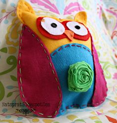 NatSprat: No Sew Felt Owl Plush for prayer owl