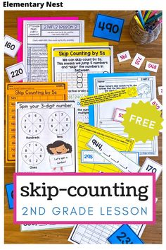 This free lesson plan helps your second grade math students practice skip-counting. It is a standards-based math activity that covers Common Core 2.NBT.2. This free activity will be sent straight to your inbox! Lesson Plan Sample, Math Lesson Plans, Math Lessons, Teaching Second Grade, Second Grade Math, Place Value Activities, Free Activities, Free Teaching Resources, Teaching Math