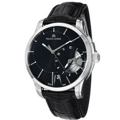 Maurice Lacroix Men's PT6118-SS001331 Pontos Black Leather Strap Watch