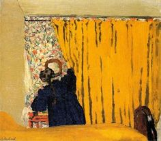 Edouard Vuillard Online, Yellow curtains, Oil Paintings Only For Art Lovers! This is a non-profits site and shows all the paintings of Edouard Vuillard's art works. Edouard Vuillard, National Gallery Of Art, Art And Illustration, Girl Illustrations, Art Encadrée, Paul Gauguin, Seattle Art Museum, Yellow Curtains, Vintage Wall Art