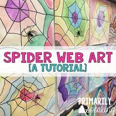 Simple, easy, and festive spider web art! Love!