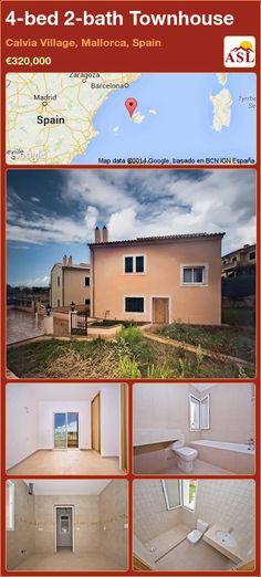 4-bed 2-bath Townhouse in Calvia Village, Mallorca, Spain ►€320,000 #PropertyForSaleInSpain