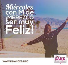 Miércoles con M de ¡MEREZCO ser muy Feliz!  www.newcake.net  #FelizMiércoles #newcakeboutique #weddingcake #cakeart #marcoantoniolopez #cursoscakes #fashioncake