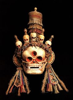 Tibetan Citipati Mask.CRYSTAL AND MINERAL SKULLS /ソカロ] / TIBETIAN SKULLS / SKULLS / More Pins Like This At FOSTERGINGER @ Pinterest
