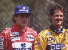 Senna and Shumacher Michael Schumacher, Formula 1, Subaru, Audi, Toyota, F1 Drivers, Car And Driver, Perfect Man, Grand Prix