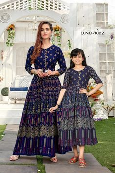 Order #Shaheen Long GOWN mom₹1250 Daughter₹1200 on WhatsApp number +919619659727 or ArtistryC.in Kids Gown, Girls Wear, Lehenga Choli, Boy Or Girl, Pajamas, Daughter, Gowns, Number, Mom