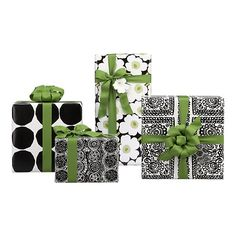 Marimekko Black and White Gift Wrap in Home Accents | Crate and Barrel