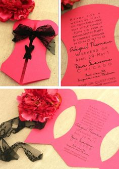 Cute bachelorette party invites.