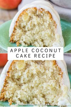 A super moist apple coconut cake with the perfect amount of apple and coconut flavor, then covered with a cinnamon cream cheese glaze. The addition of coconut milk helps to make this bundt cake so moist. You'll chop your apples for this cake, which means there's no grating them and that will save lots of time. This cake is so good your family will ask for it over and over again. Coconut Cream, Coconut Milk, Cake Recipes, Dessert Recipes, Desserts, Apple Cinnamon Cake, Cream Cheese Glaze, Cinnamon Cream Cheeses, Recipe Ideas