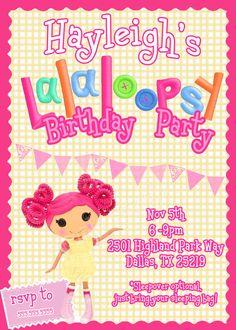 Lalaloopsy birthday invites