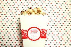Valentine Popcorn Treat and Tag