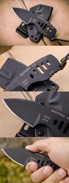 Tops Knives Baghdad Box Cutter EDC Mini Fixed Knife Blade
