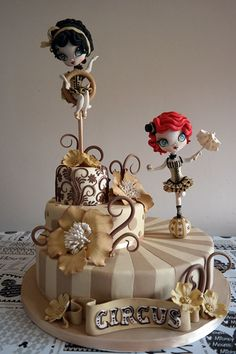 """Torta Vincitrice Al Cdif Edizione Romana 2014, """"i Wanna Be A Cake Designer""""  on Cake Central"""