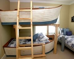 Row boat bunk beds - so creative