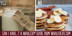 Whole 30 Food Guide  http://whole30.com/2013/06/the-official-can-i-have-guide-to-the-whole30/