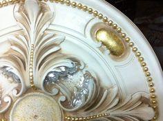 Gesso decorato oro e argento foglia 2133 2