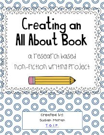 TGIF! - Thank God It's First Grade!: All About Books - Our Non-fiction Research Project!
