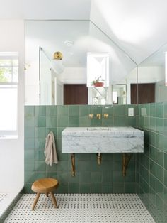 beautiful residential design by measured. architecture 2019 beautiful residential design by measured. architecture The post beautiful residential design by measured. architecture 2019 appeared first on Bathroom Diy. Bad Inspiration, Bathroom Inspiration, Bathroom Colors, Small Bathroom, Green Bathrooms, Bathroom Ideas, Green Bathroom Tiles, Bathroom Organization, Master Bathrooms