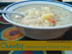 Cheesy Hamburger Potato Soup