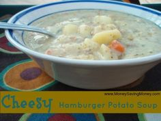 Cheesy Hamburger Potato Soup