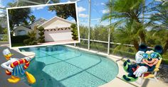 Have this gorgeous private pool in this 3 bedroom Orlando Vacation Home, only minutes from Disney World