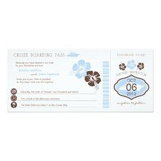 Shop Cruise Boarding Pass Wedding Invitation created by labellarue. Wedding Invitation Templates, Custom Invitations, Wedding Stationery, Wedding Invitations, Invites, Cruise Wedding, White Envelopes, Paper Texture, Boarding Pass