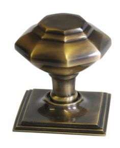 House Nameplate Company Centre Door Knob Antique Brass Finish (H)70mm x (W)80mm