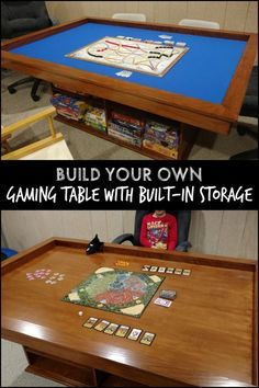 Make playing board games more enjoyable by building your own custom gaming table with storage!