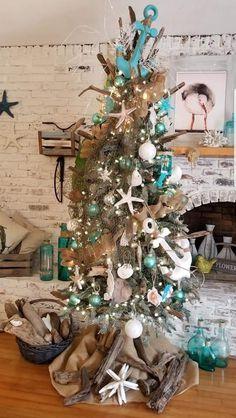 Coastal Christmas, Christmas Tree, Goin Coastal, Hanukkah, Wreaths, Holiday Decor, Mississippi, Home Decor, Teal Christmas Tree