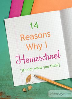 Tricia Goyer shares 14 reasons why she chose to homeschool on her blog!