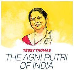 "Tessy Thomas is the first woman scientist to head a missile project in India. Because of her diligent efforts India made history with the successful completion of ""Agni IV"" missile project. #WomenAchievers ਟੈਸੀ ਥੋਮਸ ਭਾਰਤ ਵਿੱਚ ਇੱਕ ਮਿਸਾਈਲ ਪ੍ਰਾਜੈਕਟ ਦੀ ਅਗਵਾਈ ਕਰਨ ਵਾਲੀ ਪਹਿਲੀ ਮਹਿਲਾ ਵਿਗਿਆਨਕ ਹੈ। ਉਸਦੇ ਯਤਨ ਸਦਕਾ ਹੀ ਭਾਰਤ 'ਅਗਨੀ IV' ਦੇ ਸਫ਼ਲਤਾਪੂਰਕ ਸਮਾਪਨ ਤਹਿਤ ਆਪਣਾ ਸ਼ਾਨਦਾਰ ਇਤਿਹਾਸ ਬਣਾ ਪਾਇਆ ਹੈ। #HarsimratKaurBadal #ShiromaniAkaliDal"
