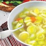 Lemony Chicken Soup With Gnocchi Gnocchi Recipes, Soup Recipes, Carrot And Leek Soup, Hardy Meals, Canadian Living Recipes, Chicken Soup, Chicken Gnocchi, Rice Soup, Soup And Sandwich