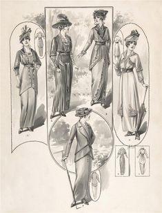 Страницы модного журнала 1900-1918 г.